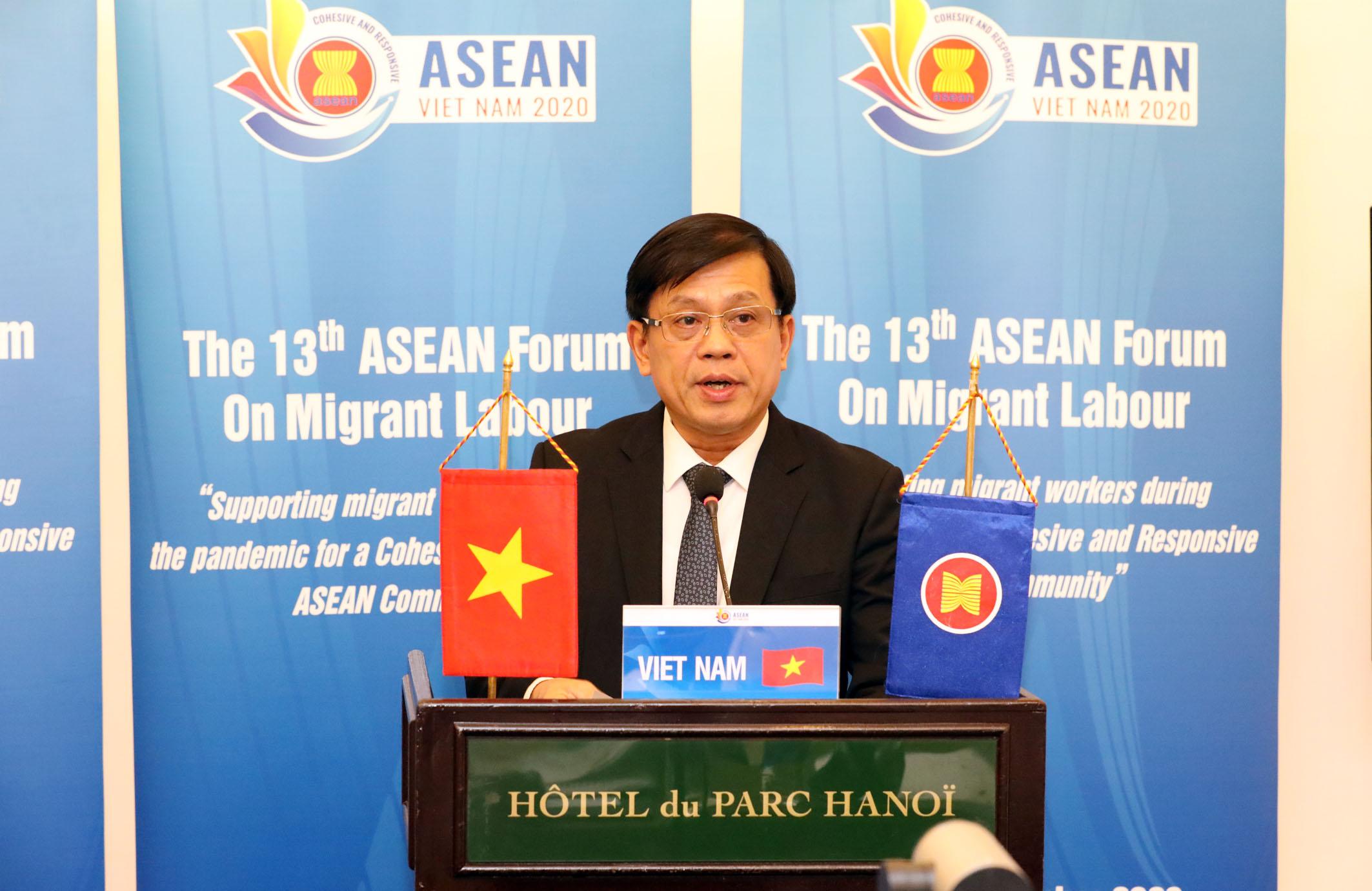 """Diễn đàn lao động di cư ASEAN lần thứ 13 - """"Hỗ trợ lao động di cư trong đại dịch hướng tới một Cộng đồng ASEAN gắn kết và chủ động thích ứng"""""""